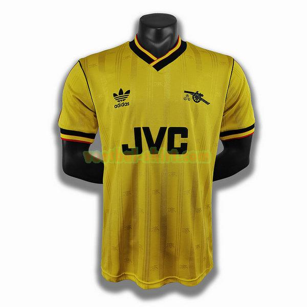 arsenal uit player shirt 1986 1988 geel mannen