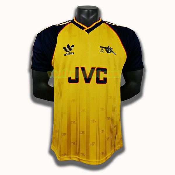 arsenal uit player shirt 1988 1990 geel mannen