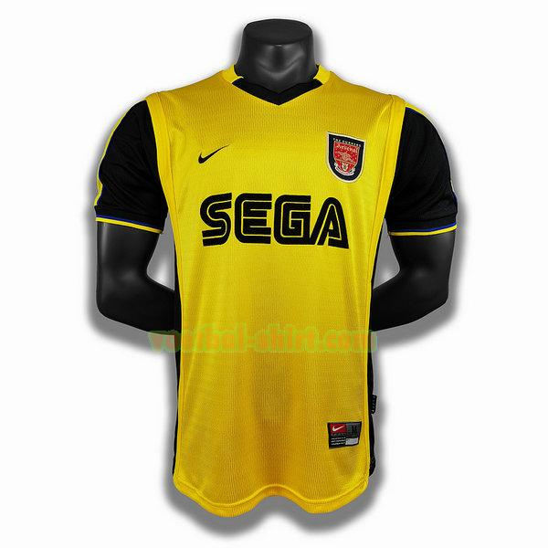 arsenal uit player shirt 1999 2000 geel mannen