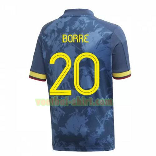 borre 20 colombia uit shirt 2020 mannen