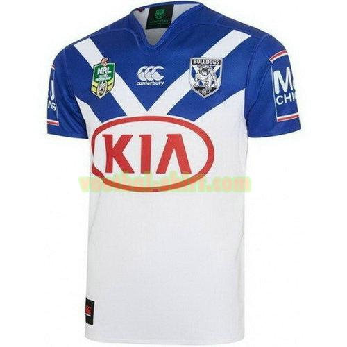 canterbury bankstown bulldogs thuis rugby shirt 2017-2018 wit mannen