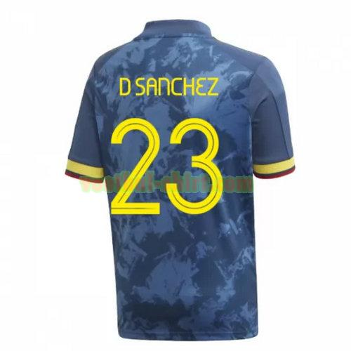 d sanchez 23 colombia uit shirt 2020 mannen