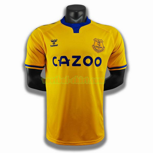 everton uit player shirt 2020-2021 geel mannen