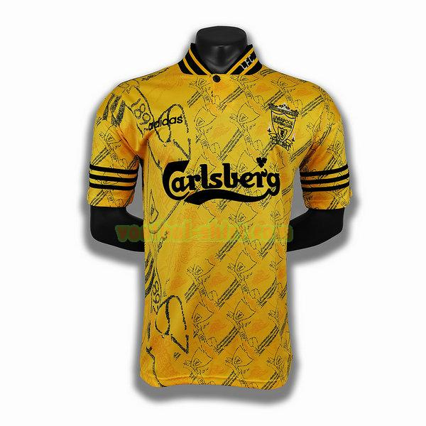 liverpool 3e player shirt 1994 1996 geel mannen