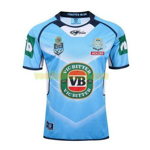 nsw blues thuis rugby shirt 2017-2018 blauw mannen