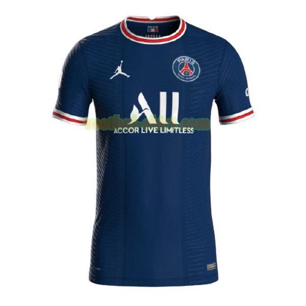 paris saint germain thuis shirt 2021 2022 blauw mannen