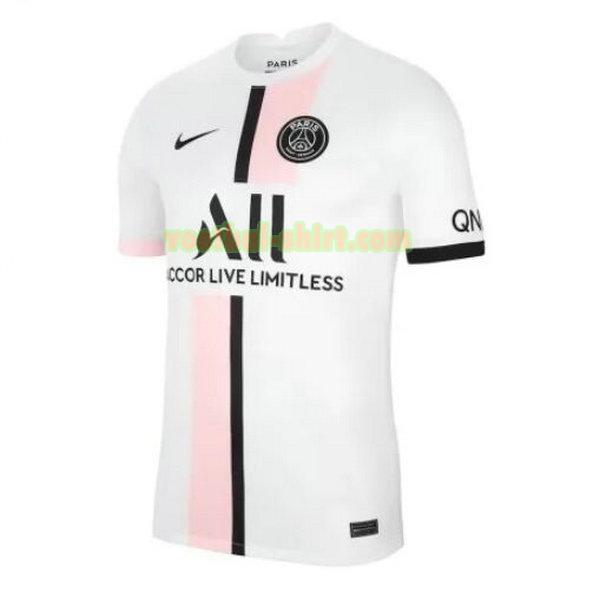 paris saint germain uit shirt 2021 2022 wit mannen