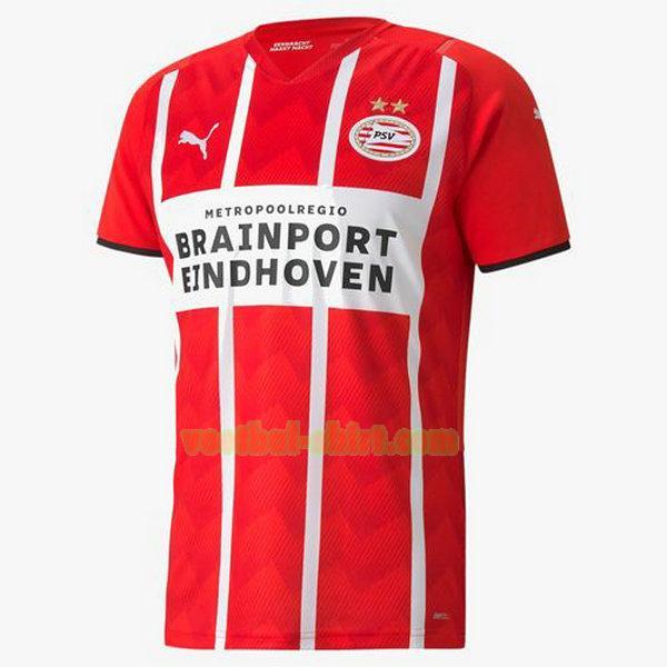 psv eindhoven thuis shirt 2021 2022 rood wit mannen