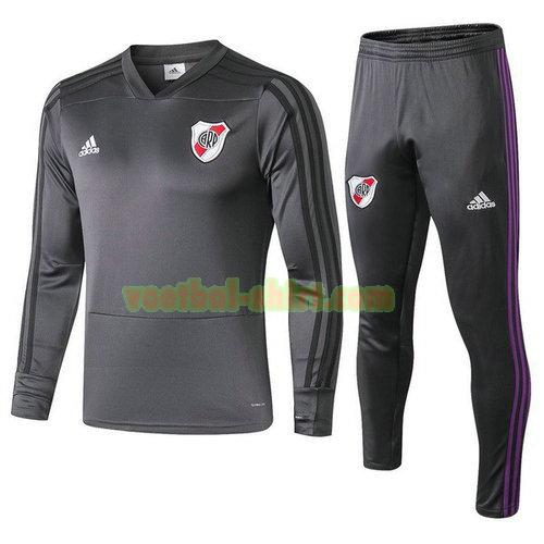 river plate trainingspak 2018-2019 grijs mannen