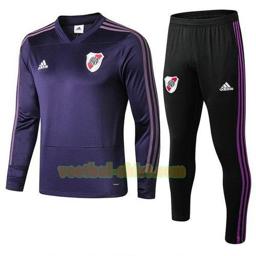 river plate trainingspak 2018-2019 purper mannen